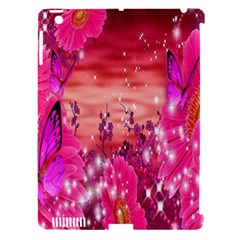 Flowers Neon Stars Glow Pink Sakura Gerberas Sparkle Shine Daisies Bright Gerbera Butterflies Sunris Apple Ipad 3/4 Hardshell Case (compatible With Smart Cover) by Simbadda