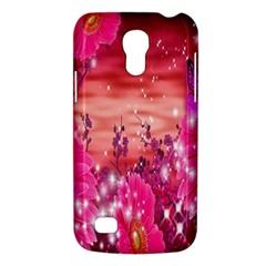 Flowers Neon Stars Glow Pink Sakura Gerberas Sparkle Shine Daisies Bright Gerbera Butterflies Sunris Galaxy S4 Mini by Simbadda