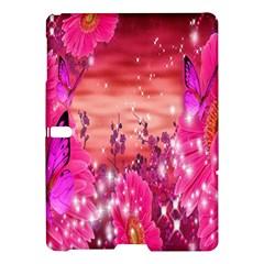 Flowers Neon Stars Glow Pink Sakura Gerberas Sparkle Shine Daisies Bright Gerbera Butterflies Sunris Samsung Galaxy Tab S (10 5 ) Hardshell Case  by Simbadda