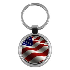 Flag United States Stars Stripes Symbol Key Chains (round)  by Simbadda