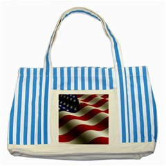 Flag United States Stars Stripes Symbol Striped Blue Tote Bag by Simbadda
