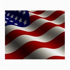 Flag United States Stars Stripes Symbol Small Glasses Cloth (2 Side) by Simbadda