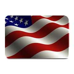 Flag United States Stars Stripes Symbol Plate Mats by Simbadda