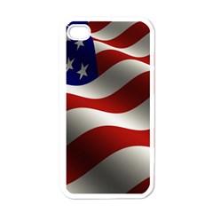Flag United States Stars Stripes Symbol Apple Iphone 4 Case (white) by Simbadda