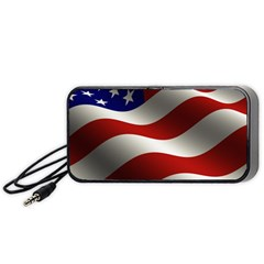 Flag United States Stars Stripes Symbol Portable Speaker (black) by Simbadda