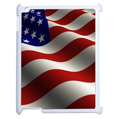 Flag United States Stars Stripes Symbol Apple Ipad 2 Case (white) by Simbadda