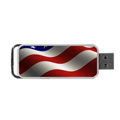 Flag United States Stars Stripes Symbol Portable Usb Flash (one Side) by Simbadda
