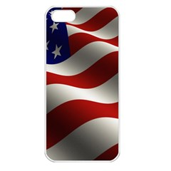 Flag United States Stars Stripes Symbol Apple Iphone 5 Seamless Case (white) by Simbadda