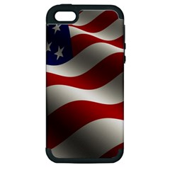 Flag United States Stars Stripes Symbol Apple Iphone 5 Hardshell Case (pc+silicone) by Simbadda