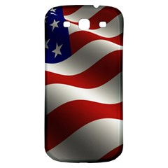 Flag United States Stars Stripes Symbol Samsung Galaxy S3 S Iii Classic Hardshell Back Case by Simbadda