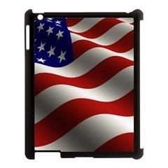 Flag United States Stars Stripes Symbol Apple Ipad 3/4 Case (black) by Simbadda