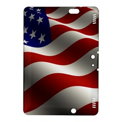 Flag United States Stars Stripes Symbol Kindle Fire Hdx 8 9  Hardshell Case by Simbadda