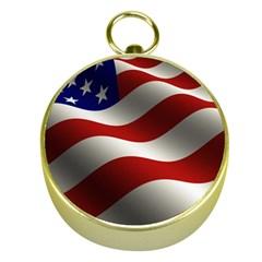 Flag United States Stars Stripes Symbol Gold Compasses by Simbadda