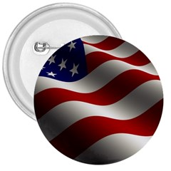 Flag United States Stars Stripes Symbol 3  Buttons by Simbadda