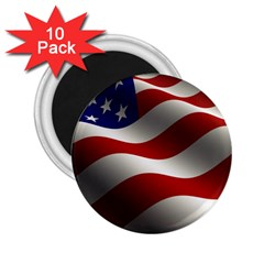 Flag United States Stars Stripes Symbol 2 25  Magnets (10 Pack)  by Simbadda