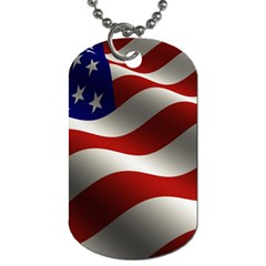 Flag United States Stars Stripes Symbol Dog Tag (two Sides) by Simbadda