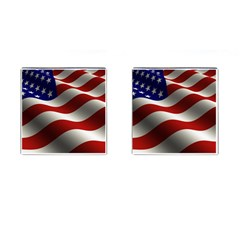 Flag United States Stars Stripes Symbol Cufflinks (square) by Simbadda