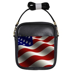 Flag United States Stars Stripes Symbol Girls Sling Bags by Simbadda
