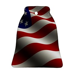 Flag United States Stars Stripes Symbol Bell Ornament (two Sides) by Simbadda