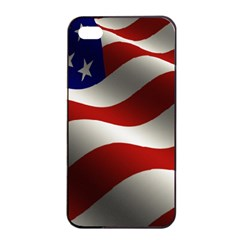 Flag United States Stars Stripes Symbol Apple Iphone 4/4s Seamless Case (black) by Simbadda