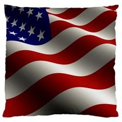 Flag United States Stars Stripes Symbol Large Cushion Case (two Sides) by Simbadda