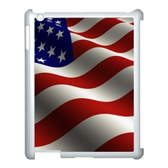Flag United States Stars Stripes Symbol Apple Ipad 3/4 Case (white) by Simbadda