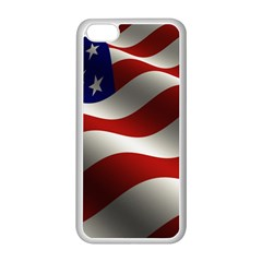Flag United States Stars Stripes Symbol Apple Iphone 5c Seamless Case (white) by Simbadda