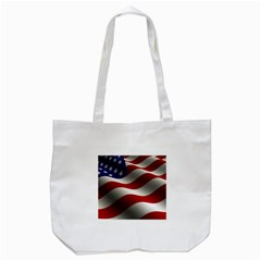 Flag United States Stars Stripes Symbol Tote Bag (white) by Simbadda