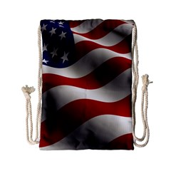 Flag United States Stars Stripes Symbol Drawstring Bag (small) by Simbadda