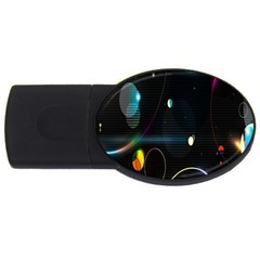 Glare Light Luster Circles Shapes Usb Flash Drive Oval (2 Gb) by Simbadda