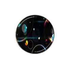 Glare Light Luster Circles Shapes Hat Clip Ball Marker (4 Pack) by Simbadda