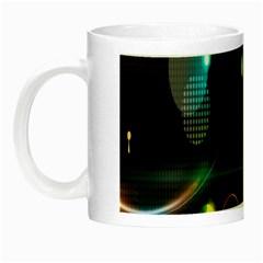 Glare Light Luster Circles Shapes Night Luminous Mugs by Simbadda