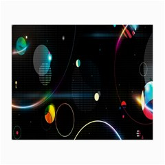 Glare Light Luster Circles Shapes Small Glasses Cloth by Simbadda