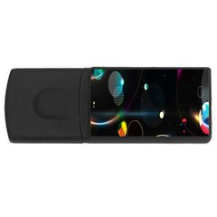 Glare Light Luster Circles Shapes Usb Flash Drive Rectangular (4 Gb) by Simbadda