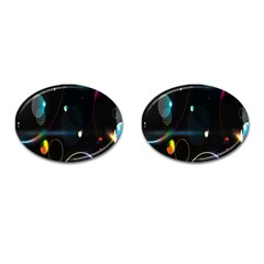 Glare Light Luster Circles Shapes Cufflinks (oval) by Simbadda