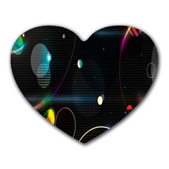 Glare Light Luster Circles Shapes Heart Mousepads by Simbadda