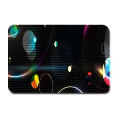 Glare Light Luster Circles Shapes Plate Mats by Simbadda