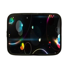 Glare Light Luster Circles Shapes Netbook Case (small)  by Simbadda