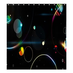Glare Light Luster Circles Shapes Shower Curtain 66  X 72  (large)  by Simbadda