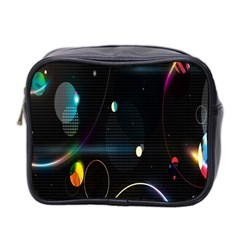 Glare Light Luster Circles Shapes Mini Toiletries Bag 2 Side by Simbadda