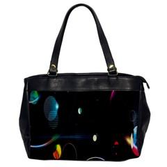 Glare Light Luster Circles Shapes Office Handbags by Simbadda