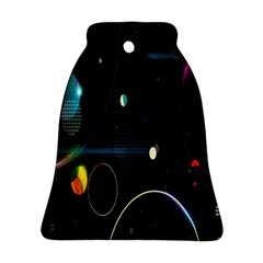 Glare Light Luster Circles Shapes Ornament (bell) by Simbadda