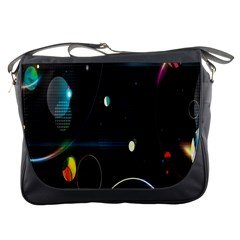 Glare Light Luster Circles Shapes Messenger Bags by Simbadda
