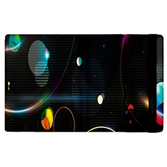 Glare Light Luster Circles Shapes Apple Ipad 2 Flip Case by Simbadda