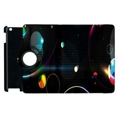 Glare Light Luster Circles Shapes Apple Ipad 2 Flip 360 Case by Simbadda