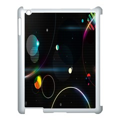 Glare Light Luster Circles Shapes Apple Ipad 3/4 Case (white) by Simbadda
