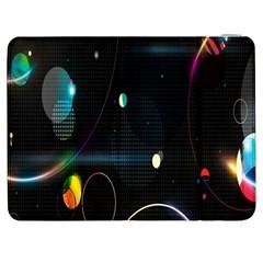 Glare Light Luster Circles Shapes Samsung Galaxy Tab 7  P1000 Flip Case by Simbadda