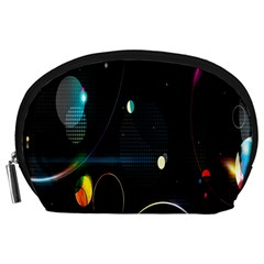 Glare Light Luster Circles Shapes Accessory Pouches (large)  by Simbadda