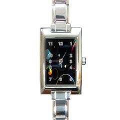Glare Light Luster Circles Shapes Rectangle Italian Charm Watch by Simbadda