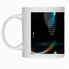 Glare Light Luster Circles Shapes White Mugs by Simbadda